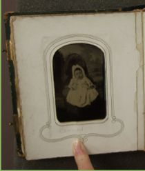 "This image is titled ""Claribel"". Why is there a picture of such a small child in these albums? #umichDAAS #ArabellaChapman #UniversityofMichigan"