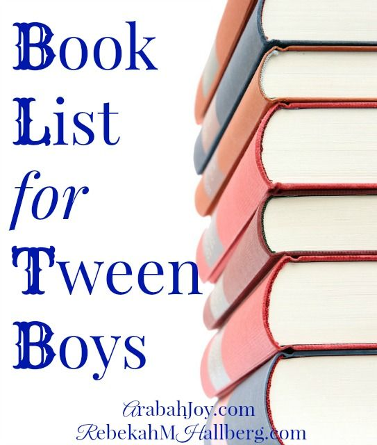 Looking for a book list for tween boys? Here are dozens of suggestions, with a little something for any interest