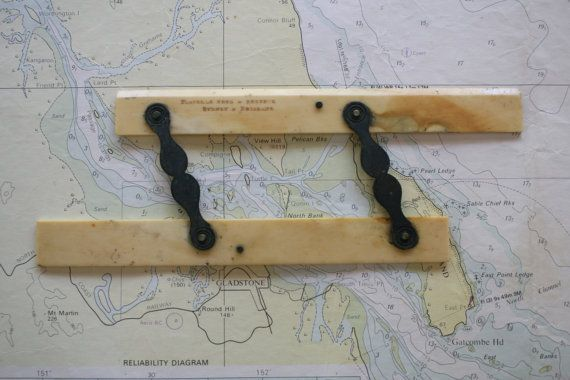 Maritime Parallel Rulers Map Reading Bone Nautical by FoundByHer