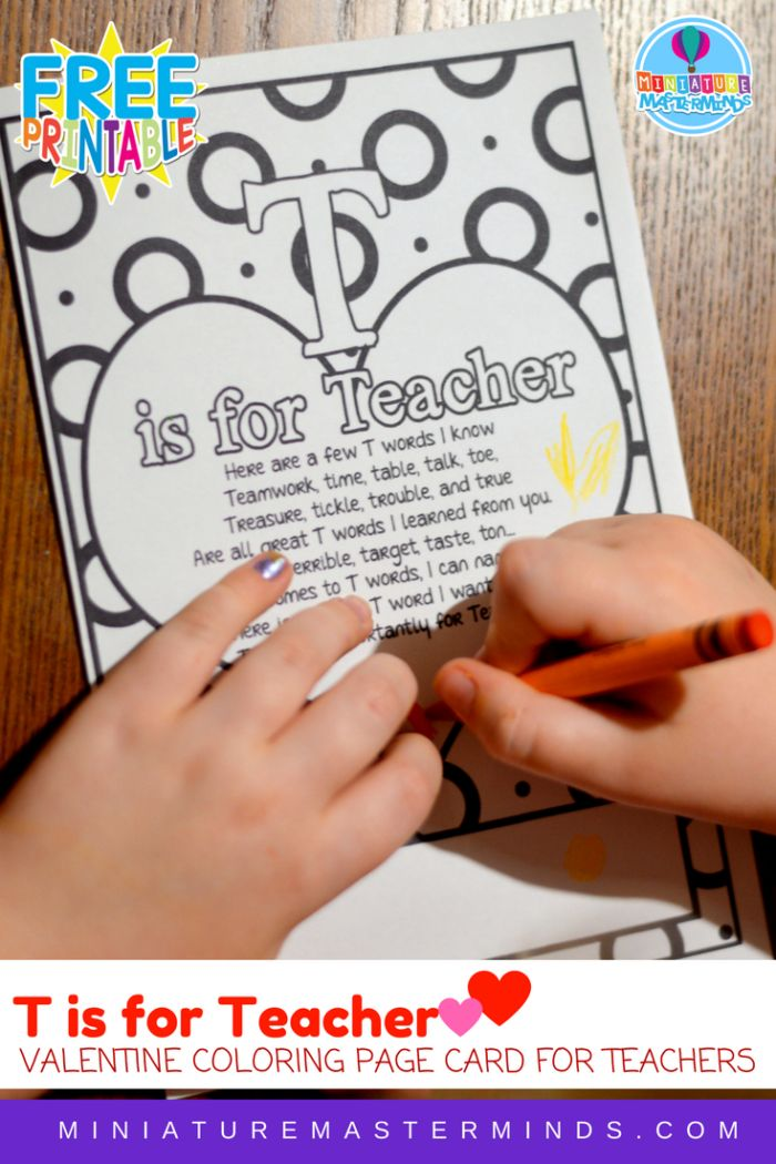 teacher valentine coloring pages - photo#34