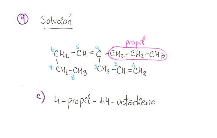 Ejercicio resuelto 09, formulación orgánica de Alquenos. Ejercicio de múltiple opción.