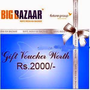 Big Bazaar Navratri Sale Offer : Big Bazaar of Rs.2000 voucher at Rs.1900 - Best Online Offer