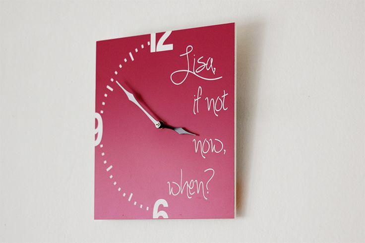 Personalisierte Wanduhr, Personalisierte Uhr von Esprint auf DaWanda.com