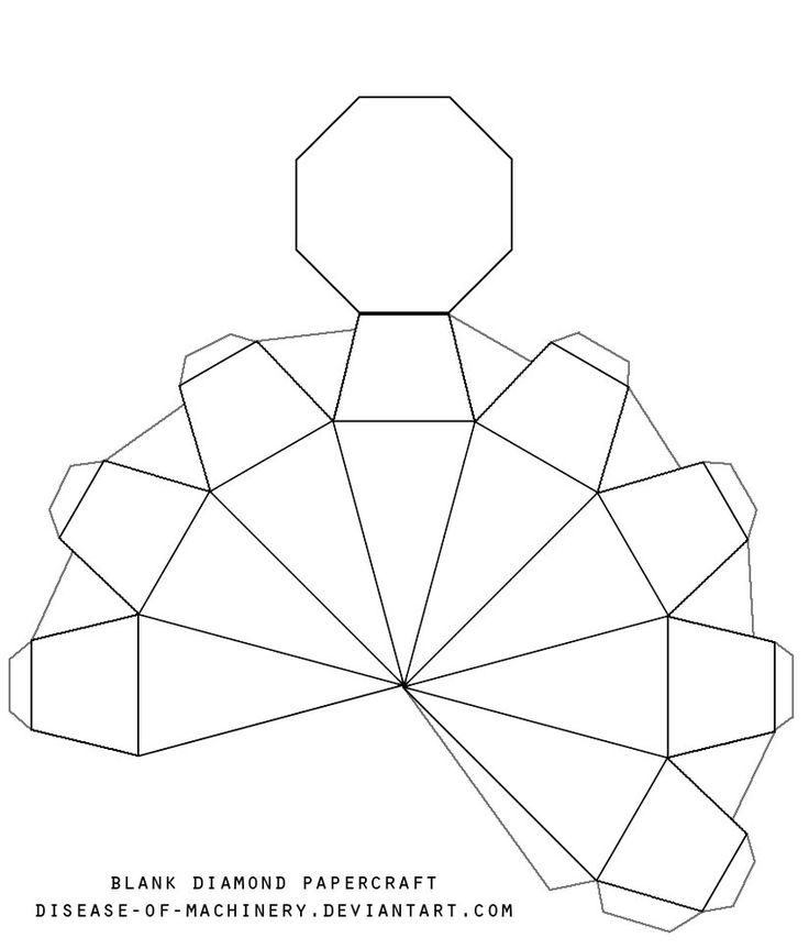 diament z papieru szablon | Oryginalne ozdoby na choinkę czyli kamienie szlachetne z papieru ...