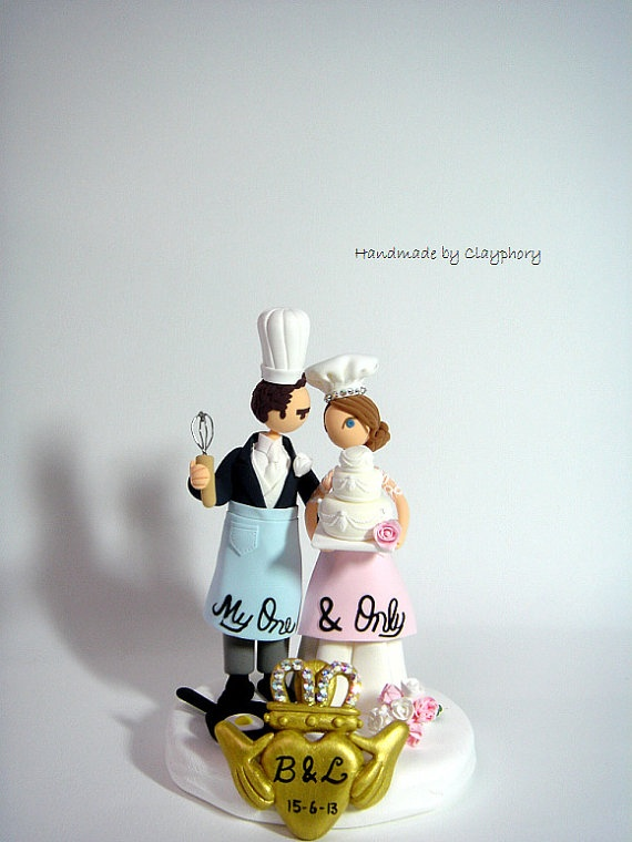 chef wedding cake toppers chef customized wedding cake topper with claddagh by 12633