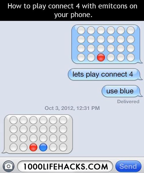 How to play Connect 4 on your phone with emoticons