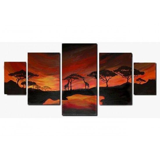 Schilderij 'Horizon African' van Aleksandra - Kunstvoorjou.nl #schilderij #aleksandra #afrika