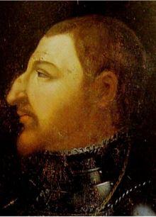 Charles d'Orléans (1459-1496) portrait fictif et anachronique de Charles I° d'Angoulême- Prince Charles d'Orléans (1459-1496), comte d'Angoulême, père de François I° de France.- 1° branche de la dynastie capétienne. Il était le fils de Jean d'Orléans (1400-1467), comte d'Angoulême (1407-1467). Il succède à son père au comté d'Angoulême à l'âge de 7 ans (1467-1496), l'exercice de son autorité étant confié à Marguerite de Rohan, sa mère, et à Jean I° de La Rochefoucauld