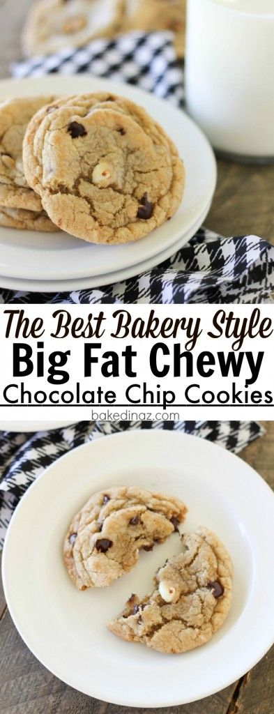 Big Fat Chewy Chocolate Chip Cookies - these cookies are the best bakery style cookie ever!