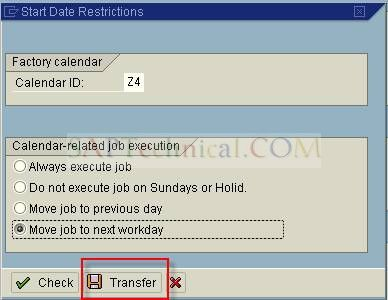 SAPTechnical.COM - Scheduling a background job using factory calendar