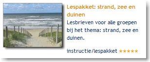 Lespakket: strand, zee en duinen: lesbrieven voor alle groepen bij het thema: strand, zee en duinen.