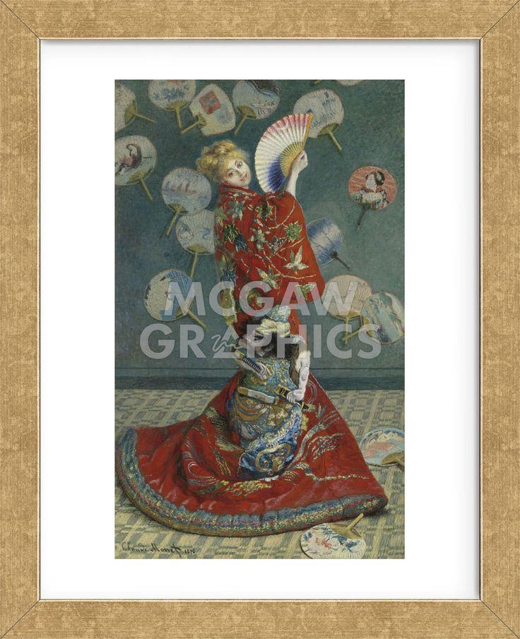 La Japonaise (Camille Monet in Japanese Costume), 1876 (Framed)