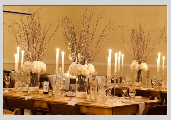 63 best winter weddings images on pinterest wedding for Twig centerpieces for weddings