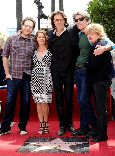Rick Springfield - Rick Springfield Gets a Star on the Walk of Fame.  With son Joshua, wife Barbara, brother Michael, sister-in-law Katie.