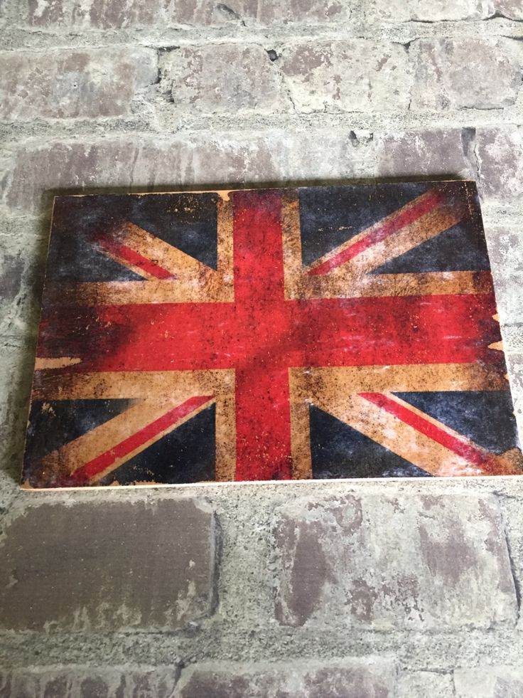 Distressed Union flag transfer print, on reclaimed wood by ifitsticks on Etsy