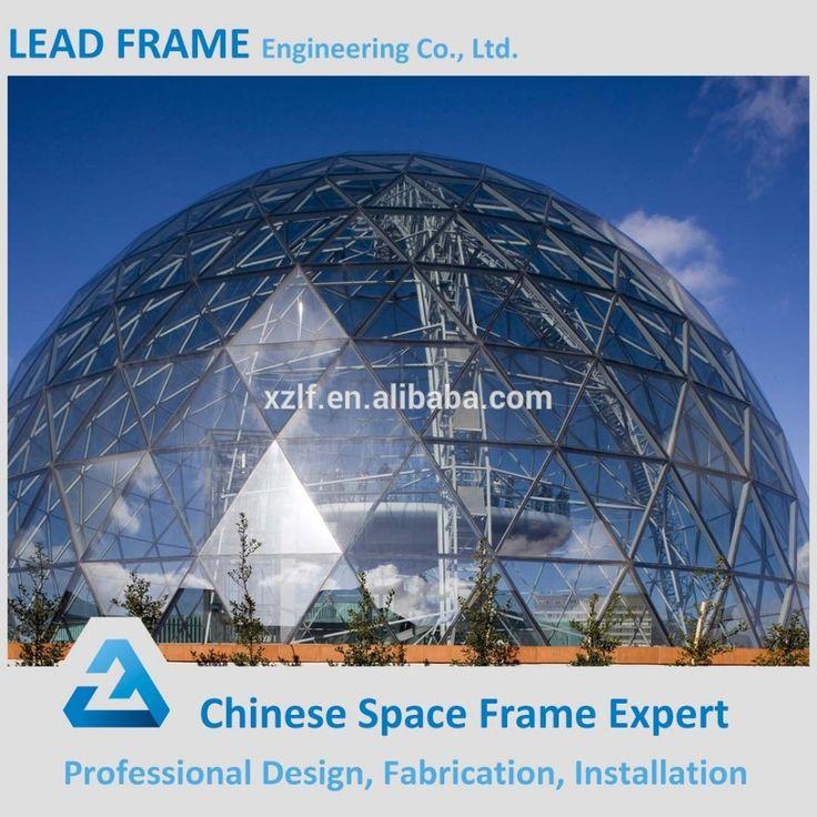 Fertighaus Stahlkonstruktion Modernes Gebäude Glaskuppel