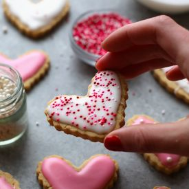 Healthy Sugar Cookie Cut-Outs made with almond meal and honey! - Fit Foodie Finds