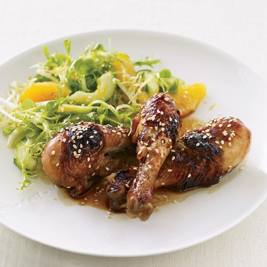 Honey-Soy Sauce Chicken with Mâche-and-Citrus Salad   Studies suggest that vitamin C may reduce levels of stress hormones and lower blood pressure. This dish by Curtis Stone, TLC's Melbourne-born star, is packed with vitamin C-rich ingredients like oranges and lime.
