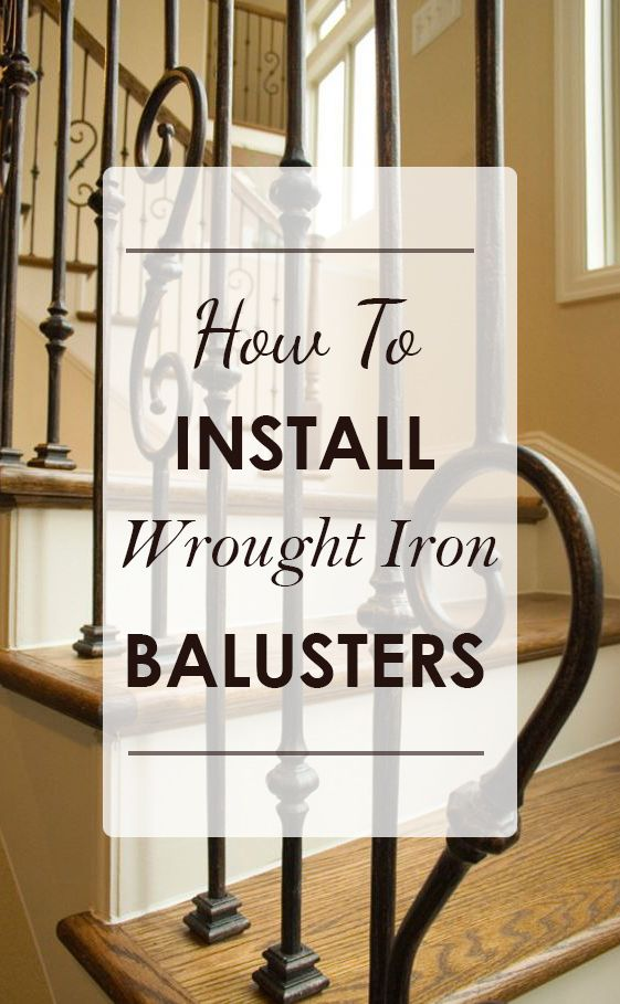 Removing old wooden balusters and installing new wrought iron balusters is a very simple process. Most simple remodel jobs can be completed in a single day.