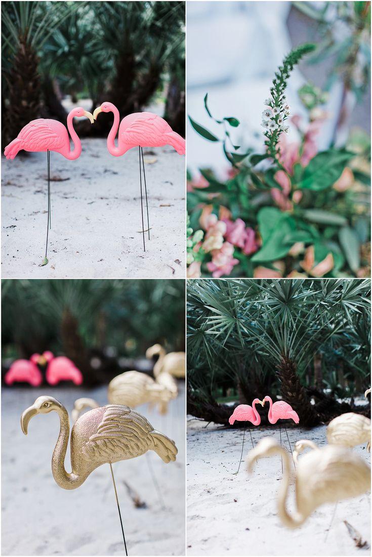 Vintage Florida Wedding - Bonnet House Styling - The ALTARnative www.chelseaerwin.com #flamingos #decor #weddingdecor #weddingstyling #vintageflorida #falmingodecor #thealtarnative #weddingday #bonnethouse #nontraditional