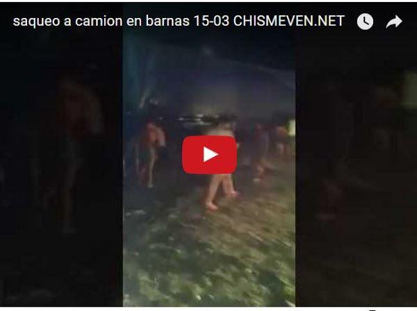 Saqueado camión de comida en Barinas  http://www.facebook.com/pages/p/584631925064466