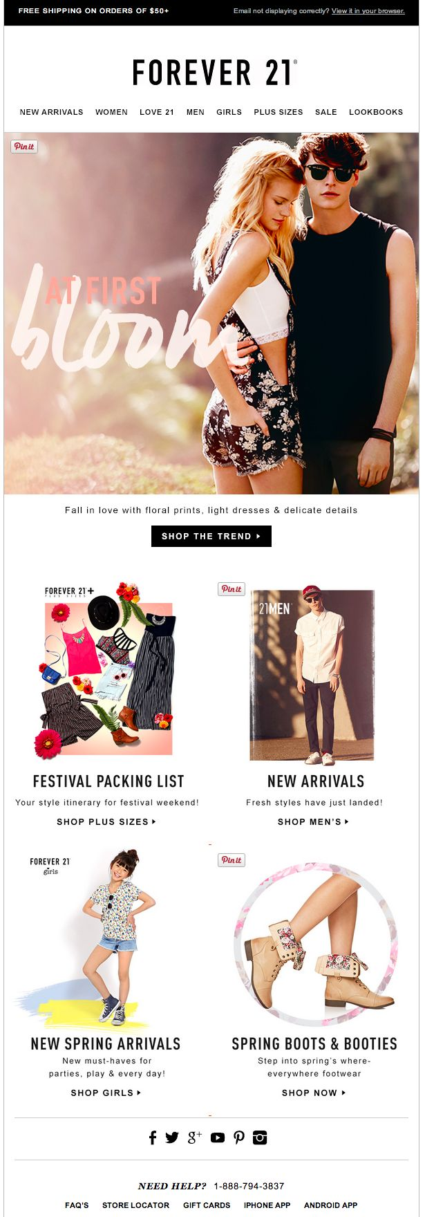 Forever 21 email 2014