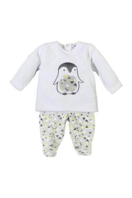 Pyjama en polaire imprimé pingouin, Du 1 au 9 mois