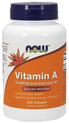 Now Foods Vitamin A, 25000 IU from Fish liver oil,  250 Soft-gels //Price: $10.16 & FREE Shipping //     #hashtag1