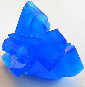 "Chalcanthite is an excellent throat chakra stone. It is said to help further desires through communication abilities. It is also said to help one stay in the now and enjoy life, as well as get rid of feelings of abandonment. Chalcanthite is reputed to eliminate delays of things in progress. It is also used metaphysically for insight, clairvoyance, and psychic attunement. It is said to enhance one's ability to ""read"" people and situation."