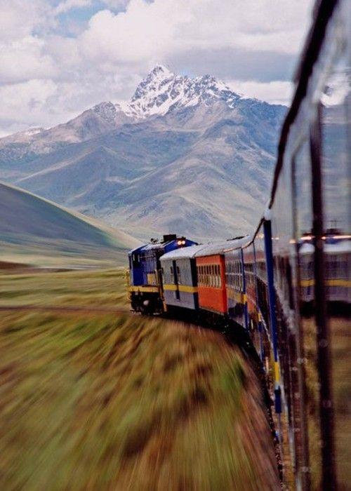 Train & Mountain