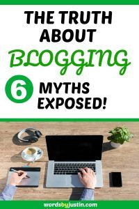 Today I'll expose six common blogging myths and offer you the benefit of my ownexperience when it comes to the Truth About Blogging. #blogger #blogtips #blogadvice #bloggingtips #bloggers