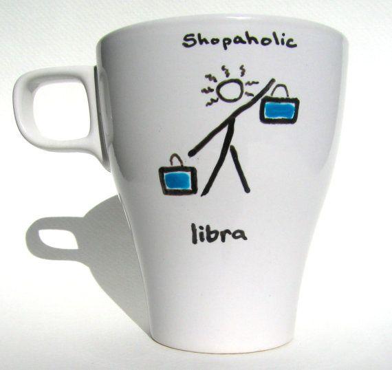Zodiaco libra taza / astrología personalizado por Meanmuggin39cups, $14.95