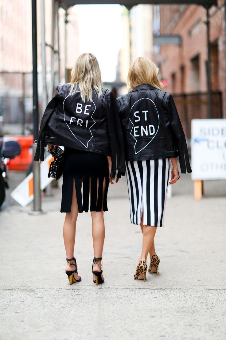 95 Killer Outfits To Copy from Fall 2015 New York Fashion Week - Forget 'Best Friend' bracelets. You need 'Best Friend' leather jackets!