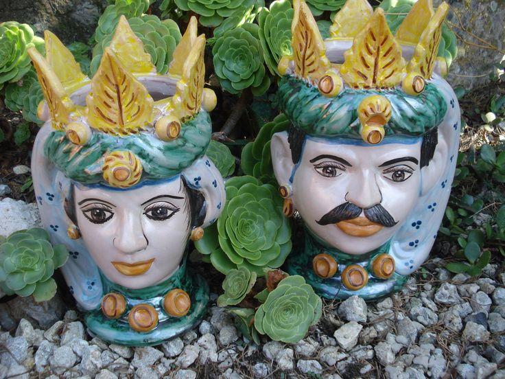 Teste di moro in ceramica  Pottery from Caltagirone  #TestediMoro #Ceramica #Sicilia #OpuntiaPutia #OpuntiaStore