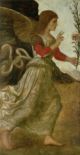 Melozzo da Forli. The Annunciating. Angel Gabriel