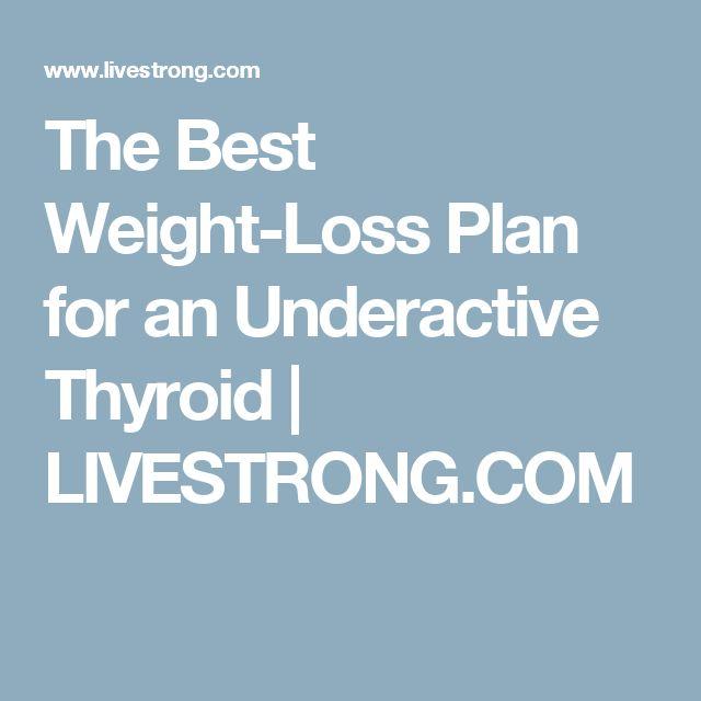 The Best Weight-Loss Plan for an Underactive Thyroid | LIVESTRONG.COM