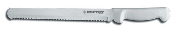 Dexter Russell 10 Inch Serrated Scalloped Slicing Knife White Handle DEX-235B