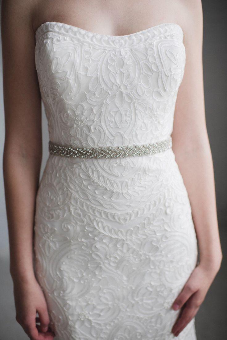 1000 ideas about rhinestone wedding dresses on