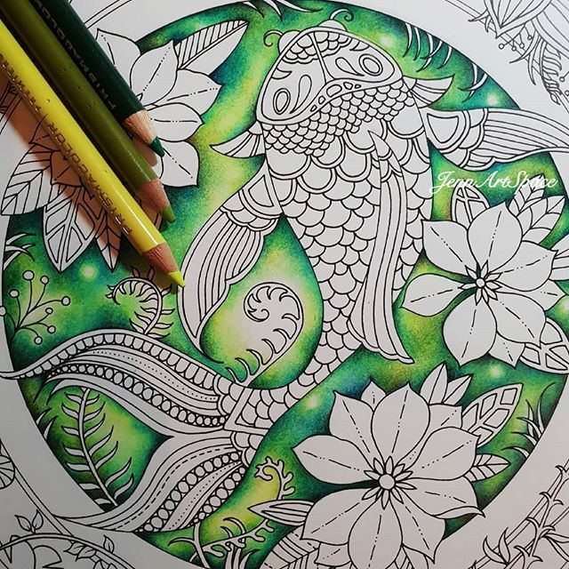 - 🌸Jennifer Teh Zreagat🌸 (@jennartspace) • Instagram Photos And Videos Coloring  Book Art, Basford Coloring Book, Color Pencil Drawing