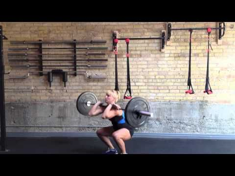 The Barbell Bear Complex: clean, squat, push press, back squat, push press and repeat for 5 sets of 5 - 7 reps