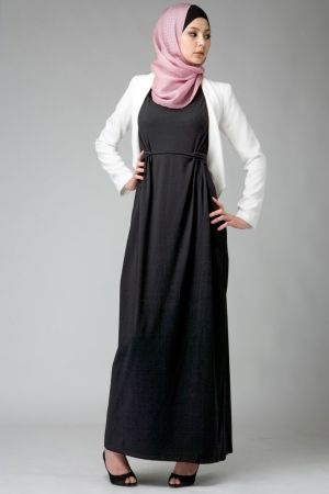 Knot Dress Black- Hijab House Online Australia