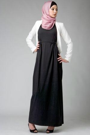 Knot Dress Black- Hijab House Online Australia