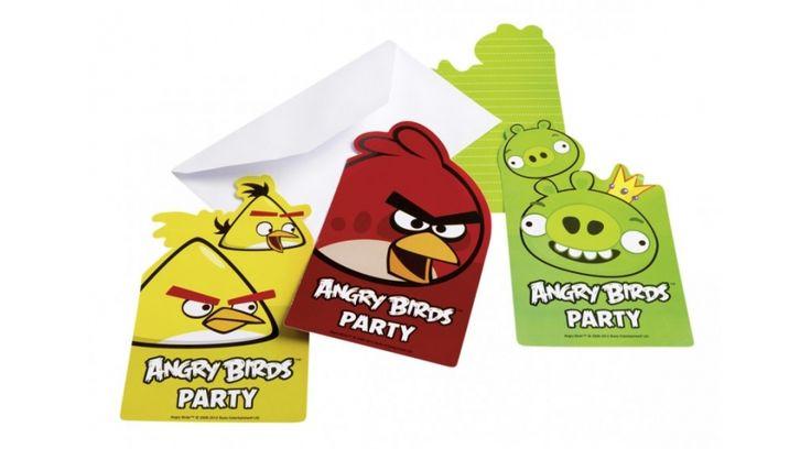 Angry birds szülinapi meghívó - Angry birds party - Nicol party bolt budapest
