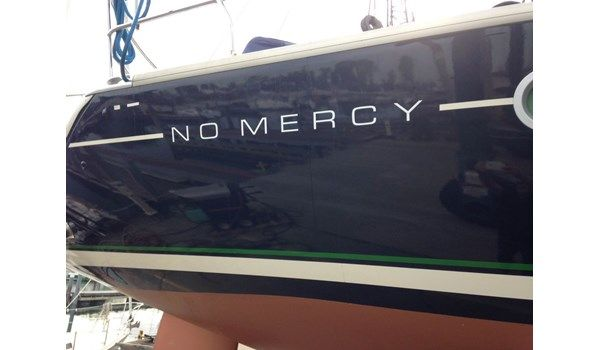 Boat lettering in white on blue  Boat & Watercraft - Wraps