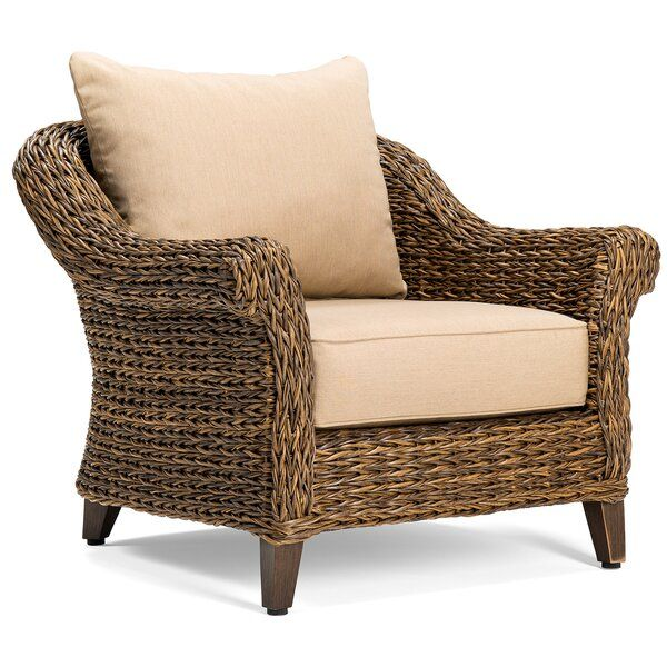 Beckwith Patio Chair With Cushion Birch Lane 779 Lounge Chair Outdoor Beige Cushions Furniture