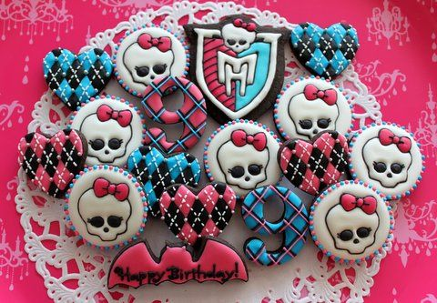 Monster High Birthday Cookies
