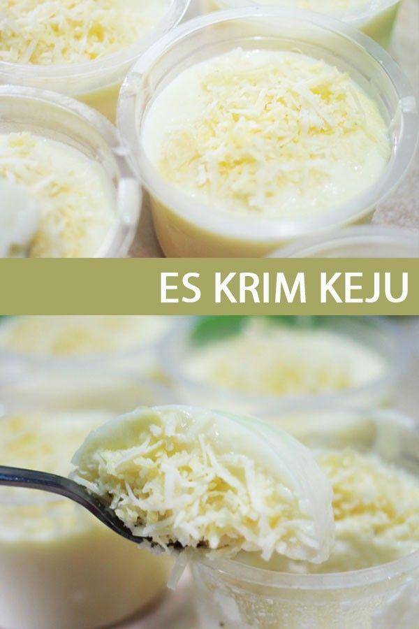 Resep Es Krim Keju Es Krim Makanan Dan Minuman Resep