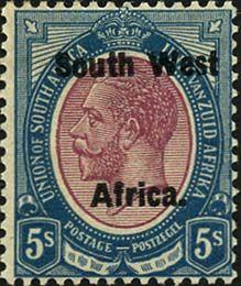 Почтовая администрация Южно-Африканского Союза начала выпускать марки для ЮЗА в 1923 году используя запас собственных марок. На них просто делали надпечатки на двух языках: английском (South West Africa) и африкаанс (Zuidwest Afrika). А чуть позднее (с 1927 года) надпечатка на марках стала очень короткой и понятной для обоих языков - S.W.A.