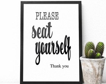 Please Seat Yourself Bathroom Wall Art Printable Decor, Funny Bathroom  Quotes Instant Download Prints,