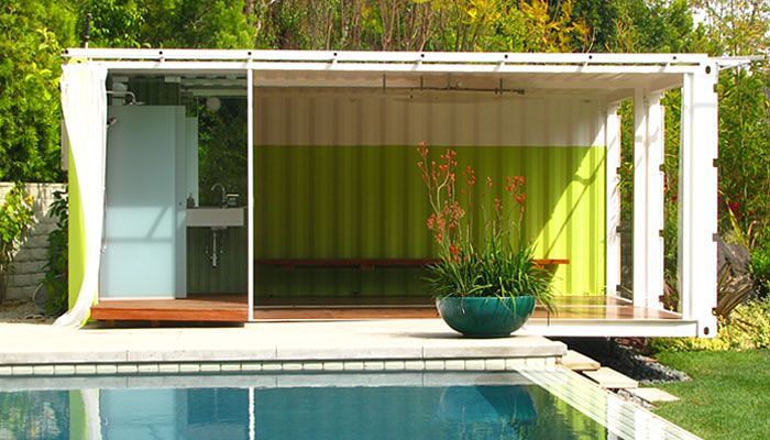 house out of old containers